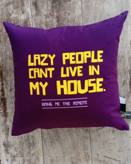 SCATTER CUSHION: LAZY PEOPLE
