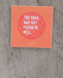 COASTER : THE EMAIL HAS NOT FOUND ME WELL