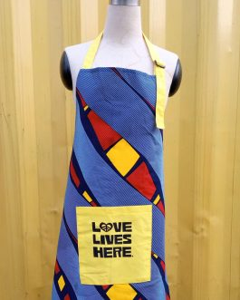 LOVE LIVES HERE APRON