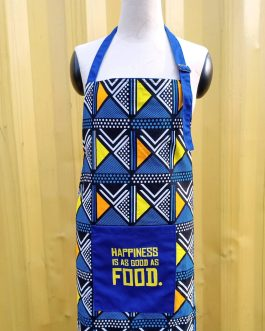 HAPPINESS IS AS GOOD AS FOOD APRON